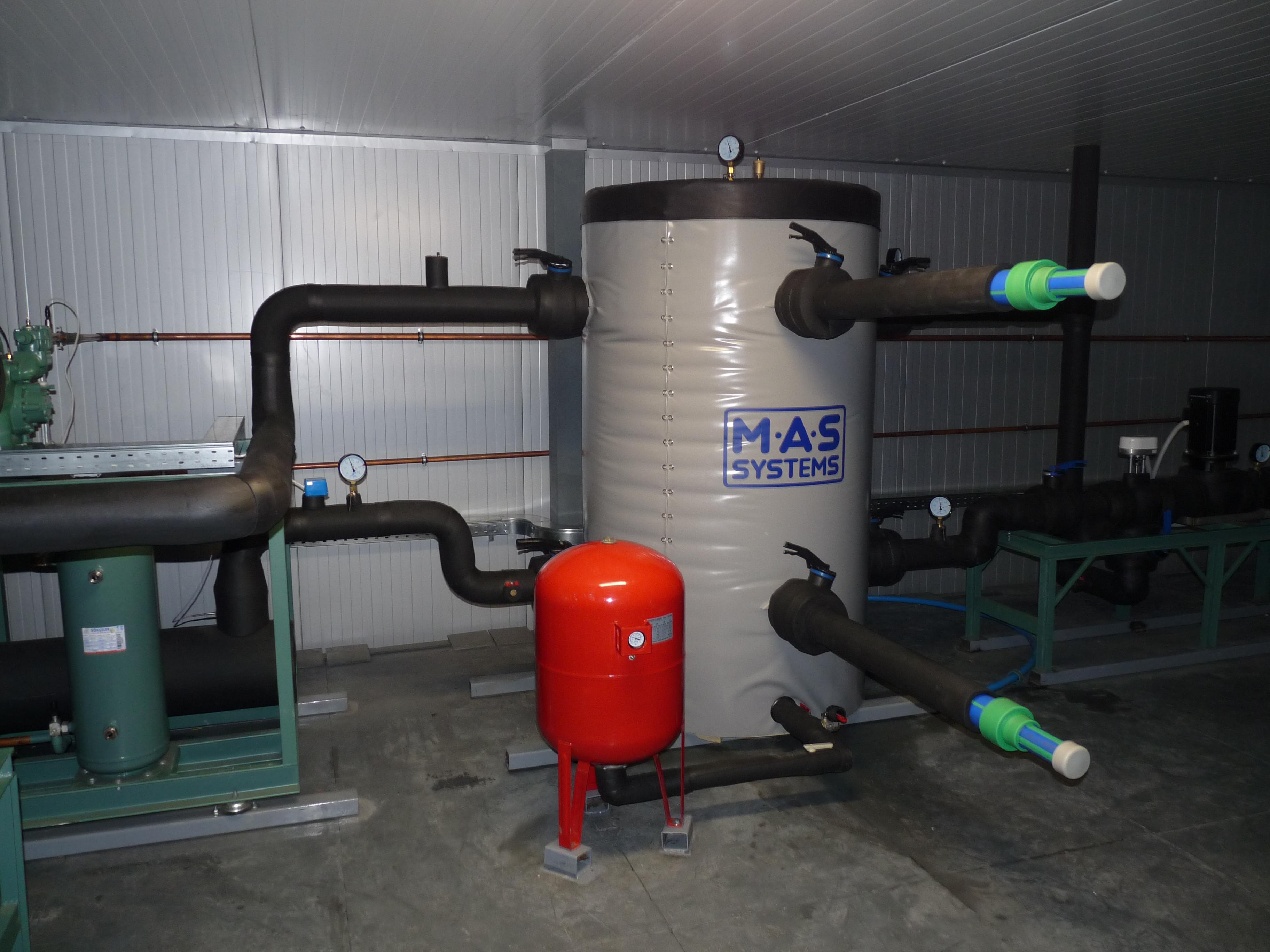 схема отопления с двумя независимыми контурами